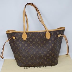 100% Auth Louis Vuitton Neverfull MM Tote Bag